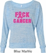 Ladies Breast Cancer Shirt F*CK Cancer Off Shoulder Tee T-Shirt