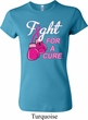 Ladies Breast Cancer Shirt Fight For a Cure Crewneck Tee T-Shirt