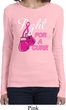 Ladies Breast Cancer Shirt Fight For a Cure Long Sleeve Tee T-Shirt