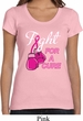 Ladies Breast Cancer Shirt Fight For a Cure Scoop Neck Tee T-Shirt