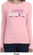 Ladies Breast Cancer Shirt I Love Boobies Long Sleeve Tee T-Shirt