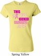 Ladies Breast Cancer Shirt Kicked Cancers Ass Crewneck Tee T-Shirt