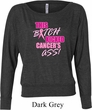 Ladies Breast Cancer Shirt Kicked Cancers Ass Off Shoulder Tee T-Shirt