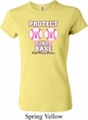 Ladies Breast Cancer Shirt Protect 2nd Base Crewneck Tee T-Shirt