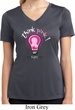 Ladies Breast Cancer Shirt Think Pink Moisture Wicking V-neck Tee