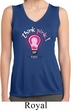 Ladies Breast Cancer Shirt Think Pink Sleeveless Moisture Wicking Tee