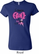 Ladies Breast Cancer Shirt Yes, They're Fake Crewneck Tee T-Shirt
