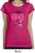 Ladies Breast Cancer Shirt Yes, They're Fake Longer Length Tee
