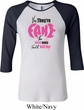 Ladies Breast Cancer Shirt Yes, They're Fake Raglan Tee T-Shirt
