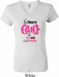 Ladies Breast Cancer Shirt Yes, They're Fake V-neck Tee T-Shirt