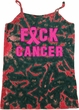 Ladies Breast Cancer Tanktop F*CK Cancer Tie Dye Camisole Tank Top