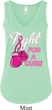 Ladies Breast Cancer Tanktop Fight For a Cure Flowy V-neck Tank Top