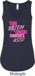 Ladies Breast Cancer Tanktop Kicked Cancers Ass Flowy V-neck Tank Top