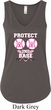 Ladies Breast Cancer Tanktop Protect 2nd Base Flowy V-neck Tank Top