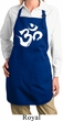 Ladies Brushstroke Aum Full Length Apron with Pockets