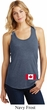 Ladies Canadian Flag Bottom Print Racerback