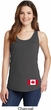 Ladies Canadian Flag Bottom Print Tank Top