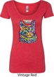 Ladies Cat Shirt Love Cat Scoop Neck