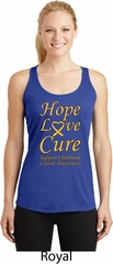 Ladies Childhood Cancer Awareness Hope Love Cure Dry Wicking Racerback