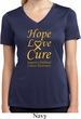 Ladies Childhood Cancer Awareness Hope Love Cure Dry Wicking V-neck