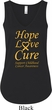 Ladies Childhood Cancer Awareness Hope Love Cure Flowy V-neck Tank Top