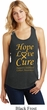 Ladies Childhood Cancer Awareness Hope Love Cure Racerback