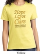 Ladies Childhood Cancer Awareness Hope Love Cure T-shirt
