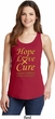 Ladies Childhood Cancer Awareness Hope Love Cure Tank Top