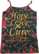 Ladies Childhood Cancer Awareness Hope Love Cure Tie Dye Camisole