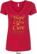 Ladies Childhood Cancer Awareness Hope Love Cure V-Neck