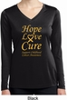 Ladies Childhood Cancer Hope Love Cure Dry Wicking Long Sleeve