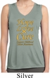 Ladies Childhood Cancer Hope Love Cure Dry Wicking Sleeveless Shirt