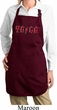 Ladies Classic Rock Yoga Full Length Apron with Pockets