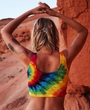 Ladies Crop Top Rainbow Tank Top