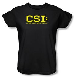Ladies CSI: Crime Scene Investigation T-shirt - Logo Black Tee