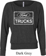 Ladies Distressed Ford Trucks Off Shoulder Shirt