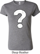 Ladies Distressed Question Crewneck Shirt