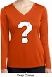 Ladies Distressed Question Dry Wicking Long Sleeve Shirt