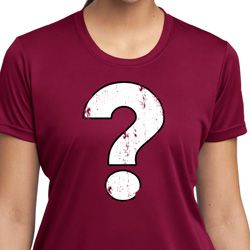Ladies Distressed Question Moisture Wicking Shirt