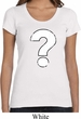 Ladies Distressed Question Scoop Neck Shirt