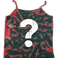 Ladies Distressed Question Tie Dye Camisole Tank Top