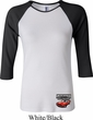 Ladies Dodge American Made Muscle Bottom Print Raglan Shirt