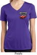 Ladies Dodge American Made Muscle Pocket Print Dry Wicking V-neck