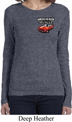 Ladies Dodge American Made Muscle Pocket Print Long Sleeve Shirt