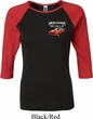 Ladies Dodge American Made Muscle Pocket Print Raglan Shirt