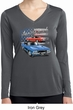 Ladies Dodge American Muscle Blue and Red Dry Wicking Long Sleeve
