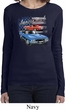 Ladies Dodge American Muscle Blue and Red Long Sleeve Shirt