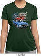 Ladies Dodge American Muscle Blue and Red Moisture Wicking Shirt