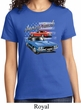 Ladies Dodge American Muscle Blue and Red Shirt