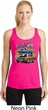 Ladies Dodge Blue and Orange Super Bee Dry Wicking Racerback